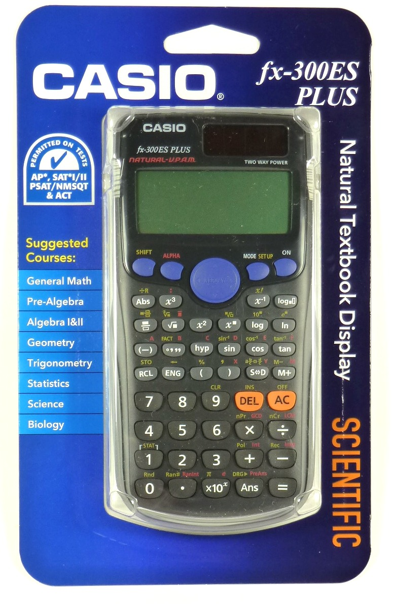 Fx300es Casio Plus Scientific Calculator Natural Textbook