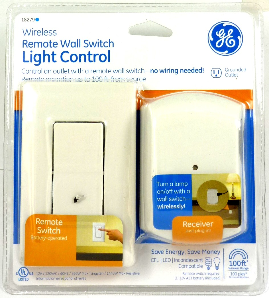 Fan Or Light Wall Remote Control : Lot of (2) GE 18279 Wall-Switch Light Control Remote with 1 Outlet Receiver eBay