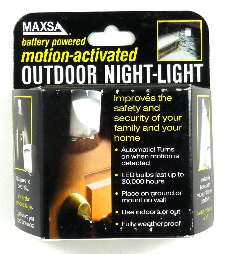 Maxsa Innovations 40341 Battery Powered Motion Activated